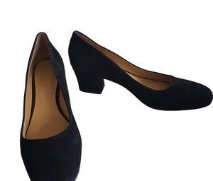Nine West Suede Block Heel Shoes Size 9